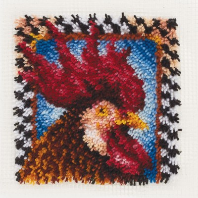 "Wonderart Latch Hook Kit 12""x 12"" Rooster"