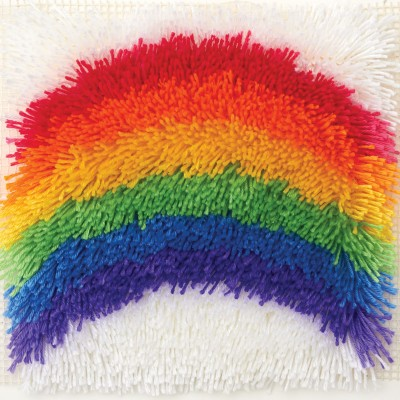 "Shaggy Latch Hook Kit 12""x 12"" Rainbow"