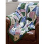 Embroidered Crazy Quilt Afghan