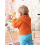 Garter Stitch Hooded Jacket