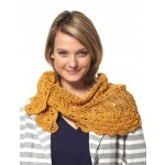 Grace - Staggered Shells Wrap (crochet)