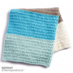 Colorblock Crochet Blanket