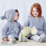 Big Kid Cozy Crochet Hoodie