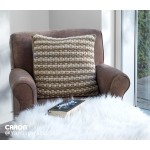Woven Look Crochet Pillow
