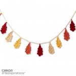 Crochet Oak Leaf Garland