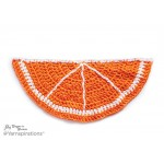 Citrus Slice Crochet Rug