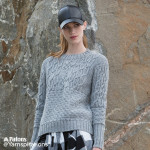 Boxy Cabled Crew Knit Pullover