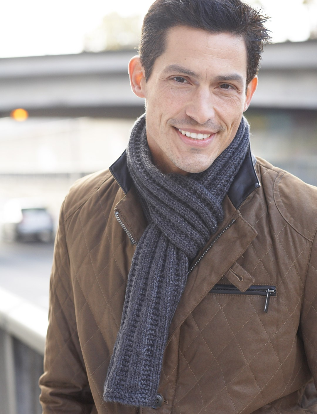 Scarfs Men Scarf And Casual On Pinterest Nice Scarves: Caron Men's Interchangeable Scarves, Knit Pattern