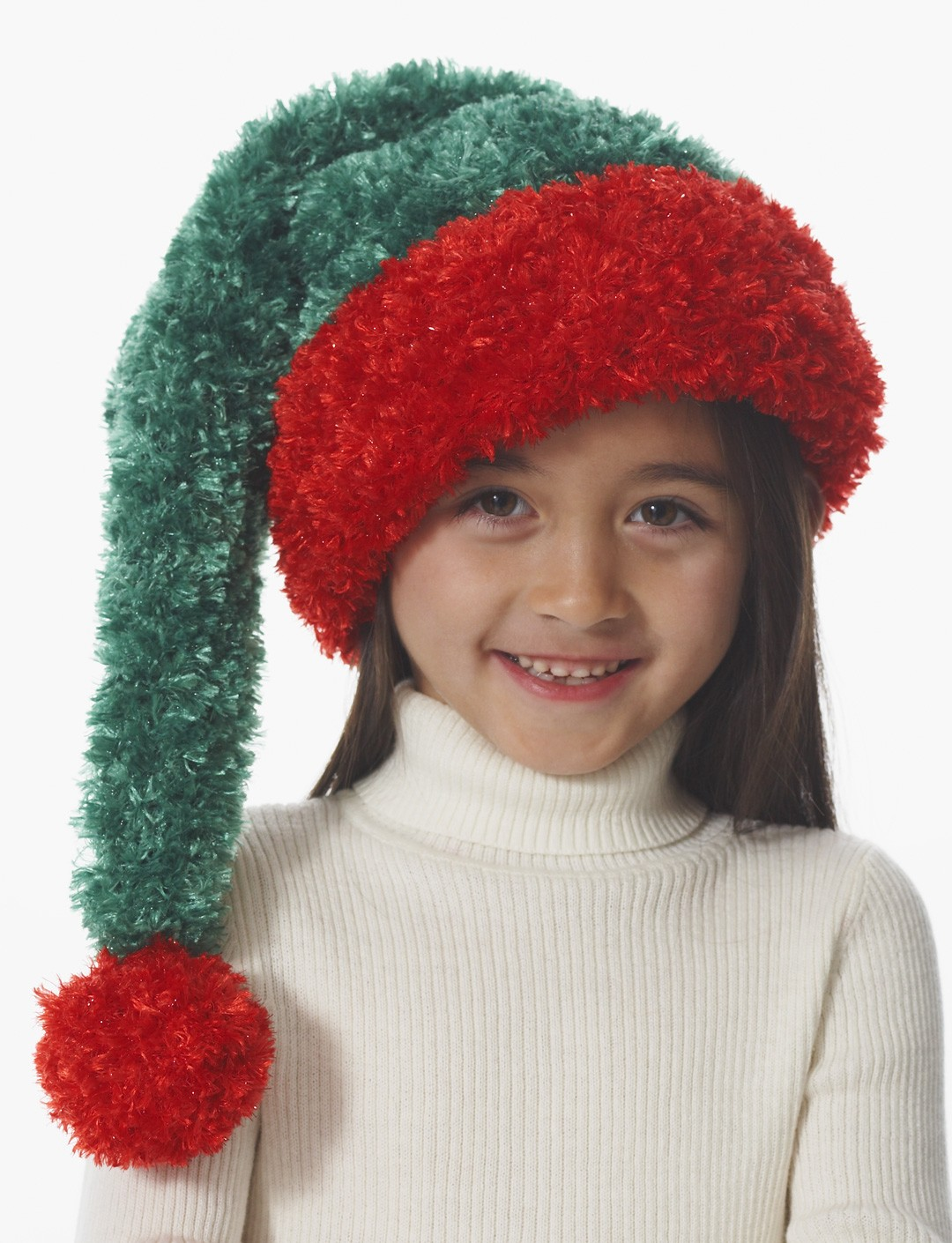 Bernat Child's Santa Hat, Knit Pattern | Yarnspirations