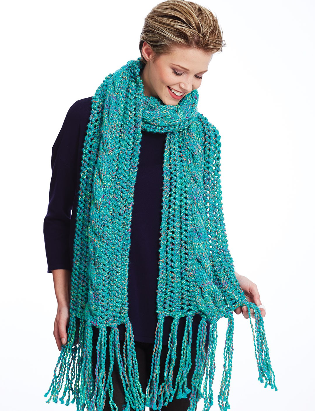 Bernat Ladders and Cables Scarf, Knit Pattern   Yarnspirations